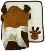 The Babymio Collection Hooded Towel and Washcloth Set