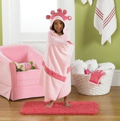 Jumping Beans® Princess Hooded Bath Towel, in Pink
