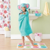 Jumping Beans® Elephant Hooded Bath Towel, in Aqua/Multi