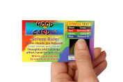 Stress Card, Mood Card - 10 Plastic Cards
