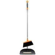 Long Handled Dust Pan & Broom with Ergo Handle