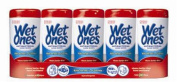 Wet Ones Fresh Scent Anti-Bacterial Wipes, 5-Canister 48 Wipes