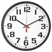 SKILCRAFT - 6645-01-557-3148 - 32cm BLACK SELFSET QUARTZ WALL CLOCK