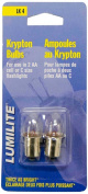 Lumilite LK4 Krypton 2.2V 0.7A Gas Flange Base Bulb for 2AA Cell or 2C Cell Flashlight, 2-Pack