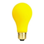 100W Long Life Standard Incandescent Bug Light in Yellow [Set of 4]