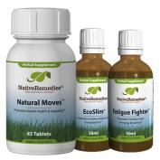 Native Remedies Natural Moves, EcoSlim and Detox Drops UltraPack