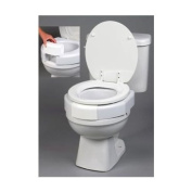 Ableware Open Front Elevated Toilet Seat with Closed Front Option