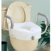 E-Z Lock Raised Toilet Seat with Arms