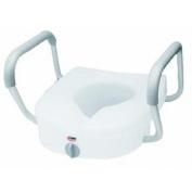 Carex E-Z Lock Raised Toilet Seat with Non-Adjustable Handles