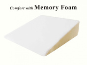 InteVision Foam Wedge Bed Pillow (70cm x 60cm x 19cm ) with High Quality, Removable Cover