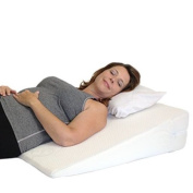 "Acid Reflux Wedge Pillow. The Medslant ""Big"" with Memory Foam Overlay is a Soft, Wide, Doctor Recommended Wedge Pillow - 80cm L X 80cm W X 15cm H"