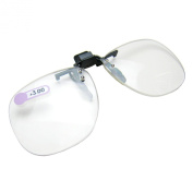 Daiso Japan Optical Clip-on Flip-up Magnifying Reading Glasses +3.00 Diopter