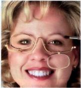 Dual Lense Flip 3x Magnifying Makeup Glasses