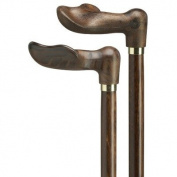 Unisex Wood Tone Palm Grip Handle Right Cane