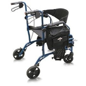 Medline Deluxe Combination Transport Chair and Rollator