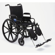 Excel K4 Lightweight Wheelchair, Swing-Back Desk Length Arms, Swing-Away Detachable Footrests, Quick Release Axles, Black