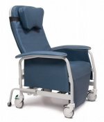 Graham Field Deluxe Preferred Care Recliner Series-wide Steel Grey Colour