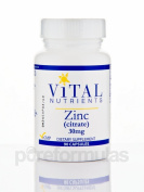 Vital Nutrients - Zinc (Citrate) 30 mg - Highly Absorbable Immune Support - 90 Capsules