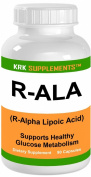 R-ALA Alpha Lipoic Acid 200mg 90 capsules KRK SUPPLEMENTS