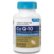 Simply Right Co Q-10 100 Mg-180 Softgels
