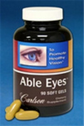 Carlson Able Eyes, Opthalmologist Formulated, 180 Soft Gels