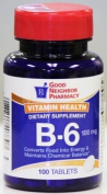 GNP Vitamin Health B-6 Dietary Supplement