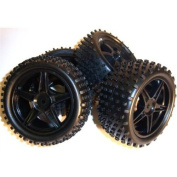 Smartech 11400/11401 1/10 Scale Off Road Buggy Wheels and Tyres Front & Rear