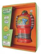 Clockwork Robot tin plate UglyDoll UglyBot robot Red