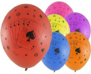 Casino Cards 30cm Latex Balloons