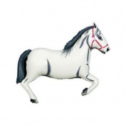 Anagram White Horse 110cm Huge Super Shaped Mylar Balloon - Great Decor (For Ages 6 Years And Up) Toy / Game / Play / Child / Kid