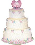 Wedding Cake 80cm Supershape Foil Balloon