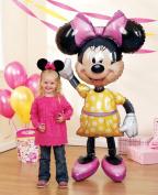 Fabulous Party Destination 140cm Disney Minnie Airwalker Jumbo Foil Balloon With Self-Sealing Toy / Game / Play / Child / Kid