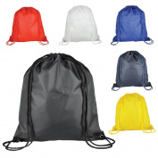 1 Kids Nylon Drawstring Rucksack / Backpack - School, Gym, Swim, Book Bag