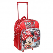 Trolley backpack I Love Minnie 27x33x12cm