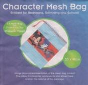 Disney Mickey Mouse Mesh Drawstring Bag PE Gym Swimming Toys 33cm x 41cm