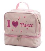 Girls Pink Satin School Ballet Love Dance Shoe Hand Bag By Katz Dancewear KB62