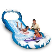 Intex Water Slide Inflatable 406 x 168 x 163 cm with 2 Mini Surf and Slide Boards