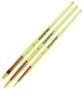 Snazaroo Face Painting Brushes, Set of 3, Yellow - Unisex