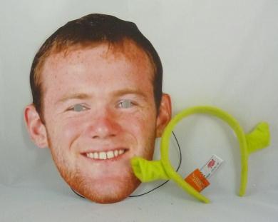 Wayne Rooney Face Mask With Free Shrek Ears (HW244)