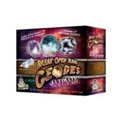 Break Open Real Geodes -Ultimate Science Kit - Set of 15 Real Geodes! Find crystal treasure! 3 Different Types of Geodes!