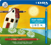 Lyra Super Ferby 3721180 Colouring Pencils Lacquered with Metal Case 18 Assorted Colours