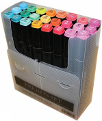 Crafters Companion SPECN24-BRIGH Spectrum Noir Alcohol Markers 24-Pkg-Brights