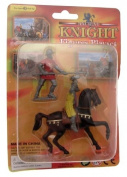 Creative play plastic knight on horseback with Pikeman playset - design 2