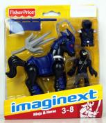 Imaginext Black Ninja and Horse