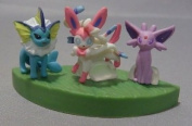 Pokemon 3D Encyclopaedia ~1/40 Scale Figure~ Movie 16th Ver~Eevee & Friends ~134 Showers~Vaporeon~Aquana~Aquali~Vaporeon Nymphia~Sylveon~Feelinara~Nymphali~Sylveon 196 Eifie~Espeon~Psiana~Mentali~Espeon