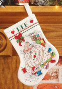 Cross Stitch Brigade Stocking Counted Cross Stitch Kit-25cm Long 14 Count