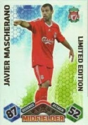 Match Attax 2009/2010 Javier Mascherano 09/10 Limited Edition Card