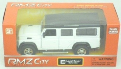 Pull Back And Go Die Cast Land Rover Defender - White (HL7H)