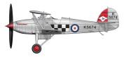 Hobby Master HA8004 Hawker Fury Mk I K5674 43 Sqn RAF 1930s 1:48 Diecast Model