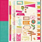 Hopscotch Cardstock Stickers 30cm x 30cm -Icons, Borders & Alphabet